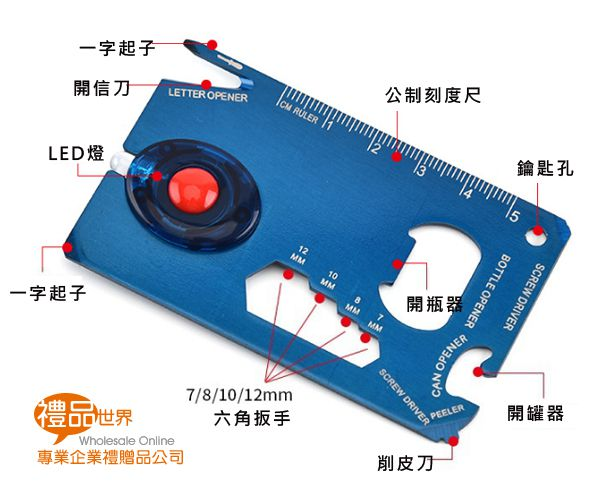 LED燈戶外工具卡
