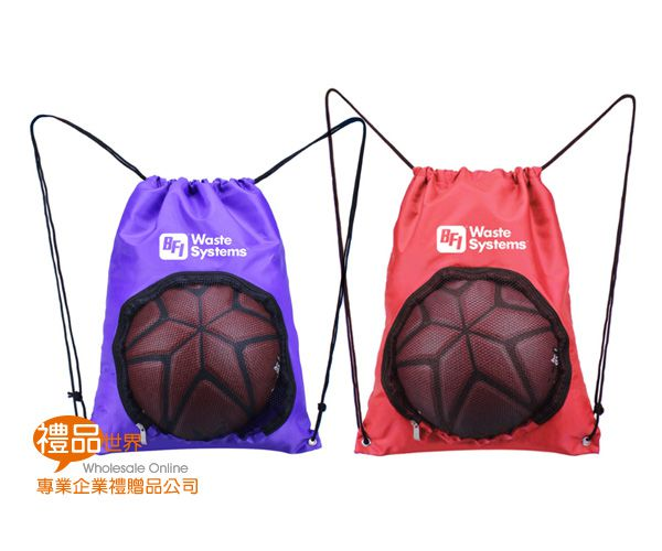 客製化運動球束口背包