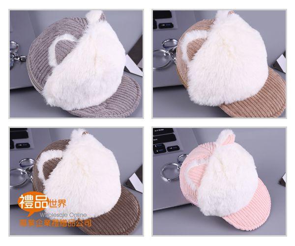 動物耳造型帽子零錢包