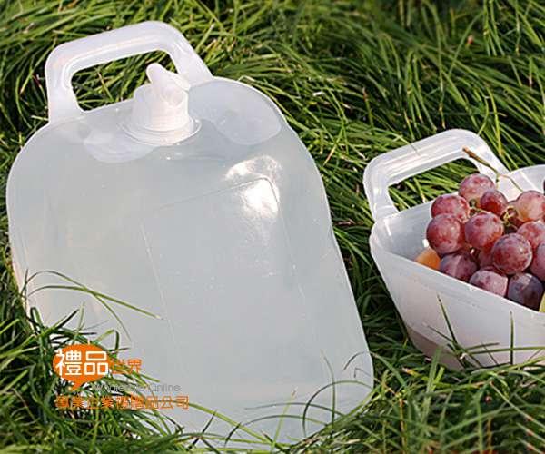 兩用摺疊水桶10L