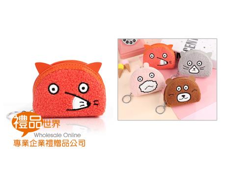 可愛動物QQ毛零錢包