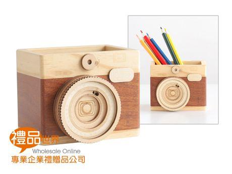 原木相機造型筆筒