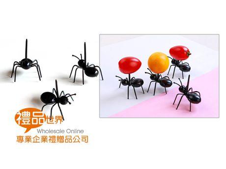 創意螞蟻造型水果叉