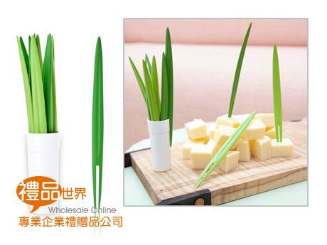 竹葉造型水果叉