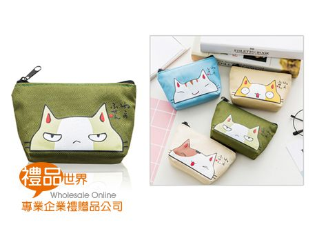 可愛貓咪手拿零錢包