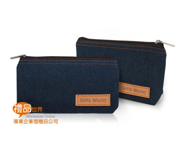 客製化牛仔筆袋(皮標)