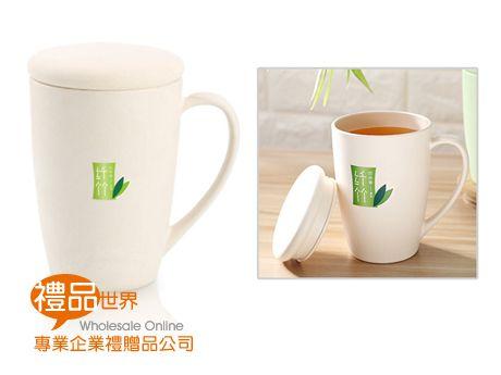 竹纖維附杯蓋水杯380ml