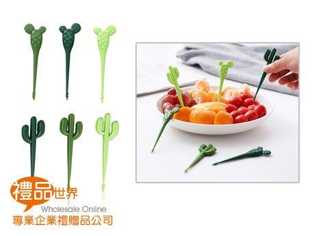 仙人掌造型水果叉