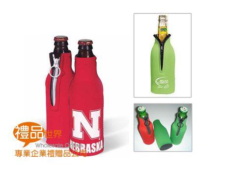 客製化單入拉鍊酒瓶套