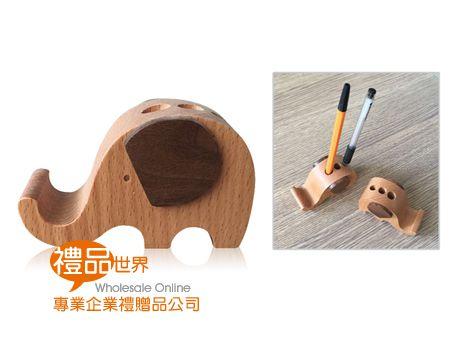 大象造型木質手機架