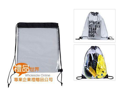透明PVC束口背包