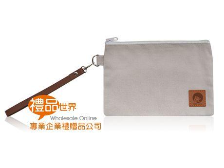 客製化帆布拉鏈袋(附提帶)