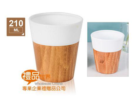 竹底拼接陶瓷杯210ml
