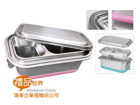 鋼蓋不鏽鋼雙層兩格餐盒