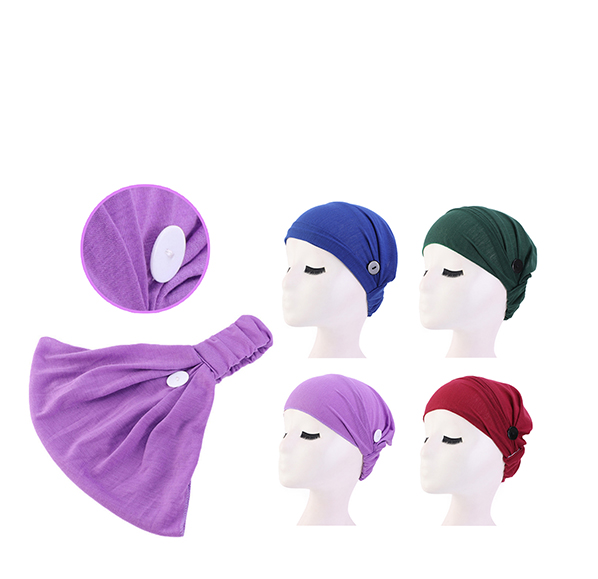口罩防勒式素雅頭巾