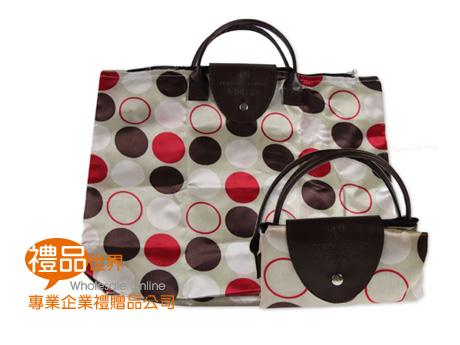 普普風圓點折疊購物袋