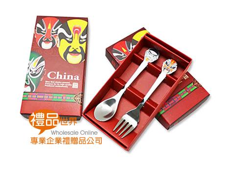 中國風臉譜餐具2件組