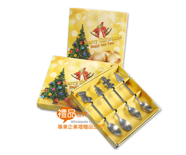 聖誕系餐具4入組