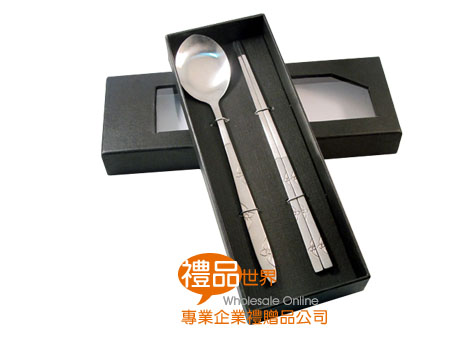 精緻韓風扁匙筷子組