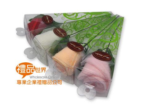 玫瑰花造型毛巾