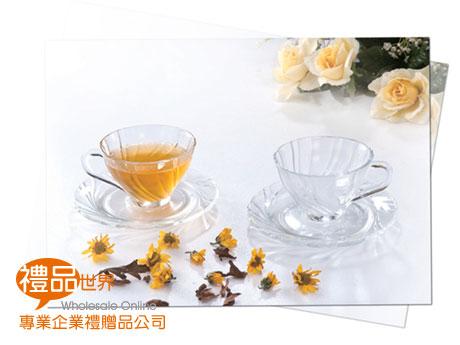 雅緻晶瑩花茶杯組