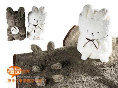 絨毛兔造型毯
