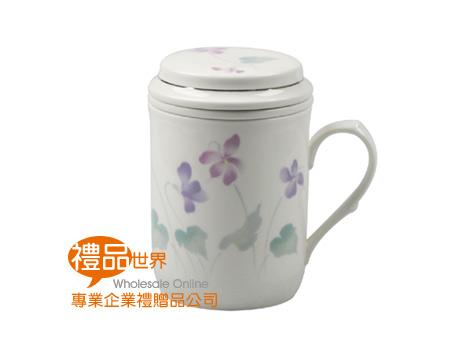 紫花三件杯