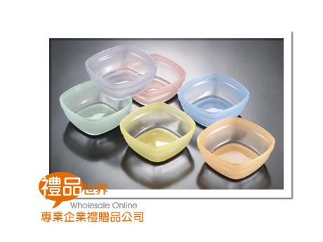 彩色方形玻璃缽