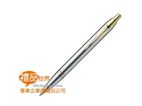 派克經典亮鉻金夾原子筆