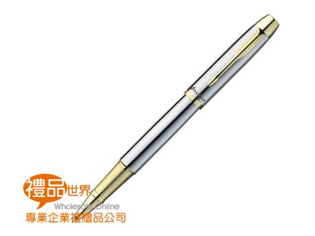 派克經典亮鉻金夾鋼珠筆
