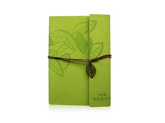 客製化森林風綠葉記事本